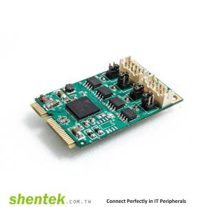 2 port High Speed Serial RS-422/485 Mini PCI Express(Mini PCIe) Card with 600W Surge Protection