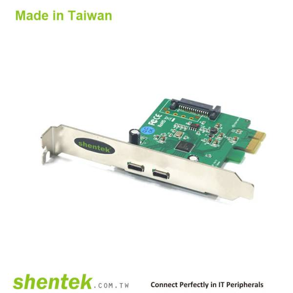 2 port SuperSpeed USB3.0(USB 3.1 GEN 1 5G) USB-C connector PCI Express Card support Standard and Low Profile Bracket