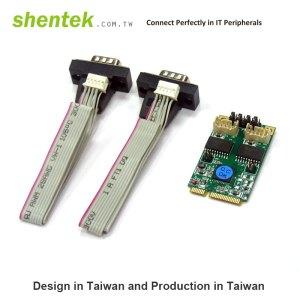 2 port Serial RS-422/485 Mini PCI Express(Mini PCIe) card + 2.5KV Isolation Protection
