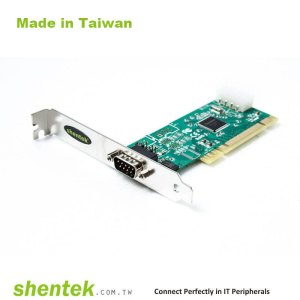 1 port High Speed Serial RS-232 Universal PCI card support Pin1 – 5V/12V/DCD, Pin9 - 5V/12V/RI Selectable and Standard and Low Profile Bracket