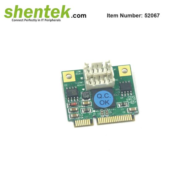 Half size 2 port RS485 Mini PCIe Card