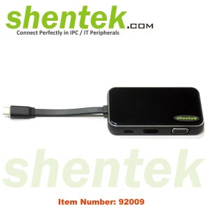 USB-C HDMI VGA Ethetnet USB PD 60W Docking Station