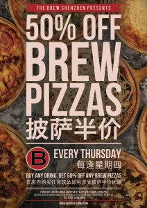 The Brew 50%OFF BREW PIZZAS