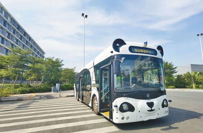 深セン初の自動運転バス「熊猫公交」(パンダバス)坪山区で運行開始!