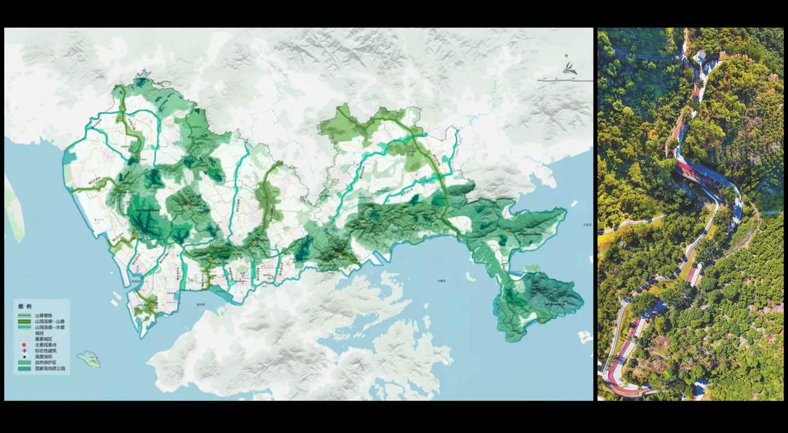 深セン市内の約1,000の公園をつなぐ「山海連城計画」緑道ネットワークプロジェクト進行中