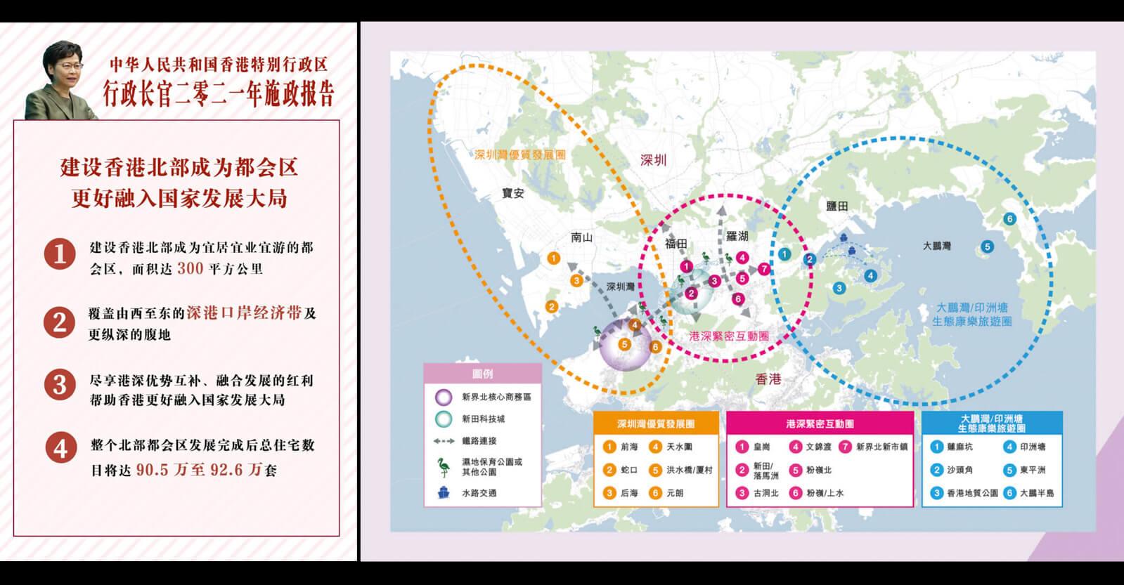 香港「北部都会区発展策略」発表:深センとの境界に巨大な新都市を建設へ