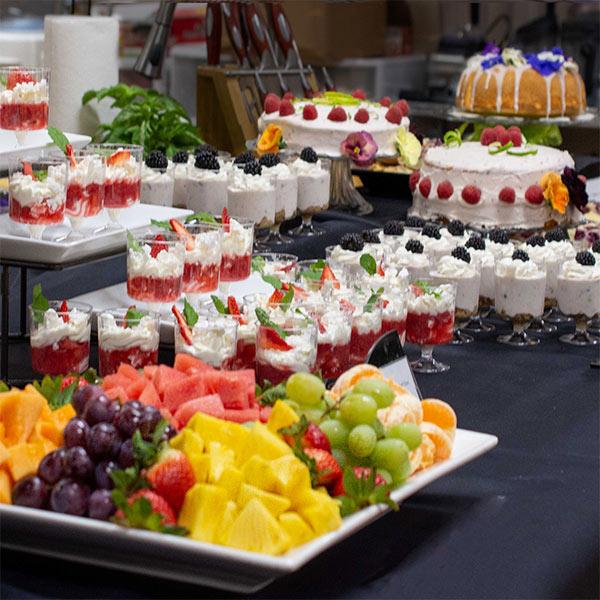 Dessert table at Melissa's Produce