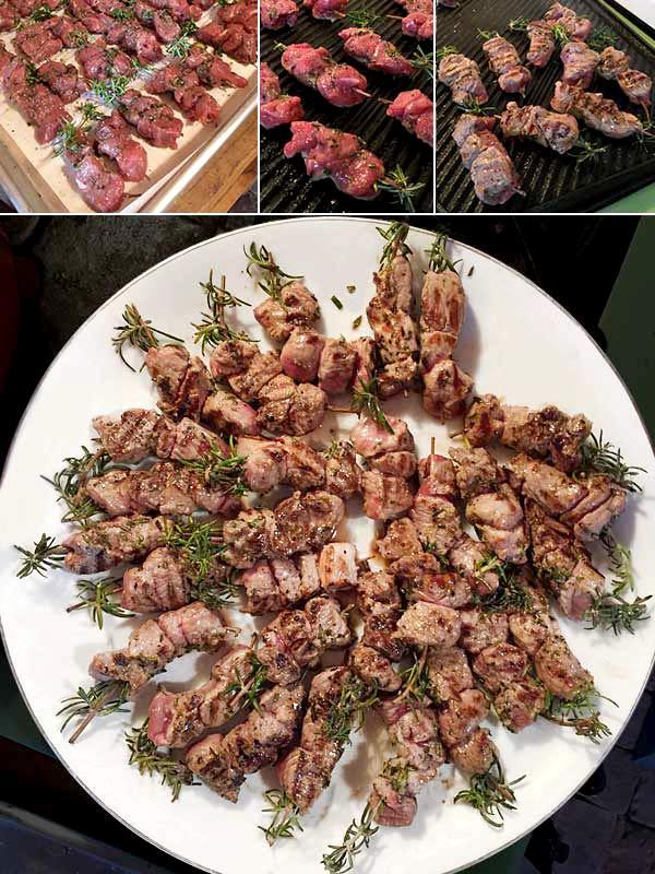 Rosemary-Garlic Aussie Lamb Skewers