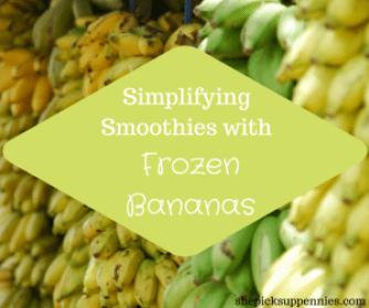 freeze bananas smoothie recipe