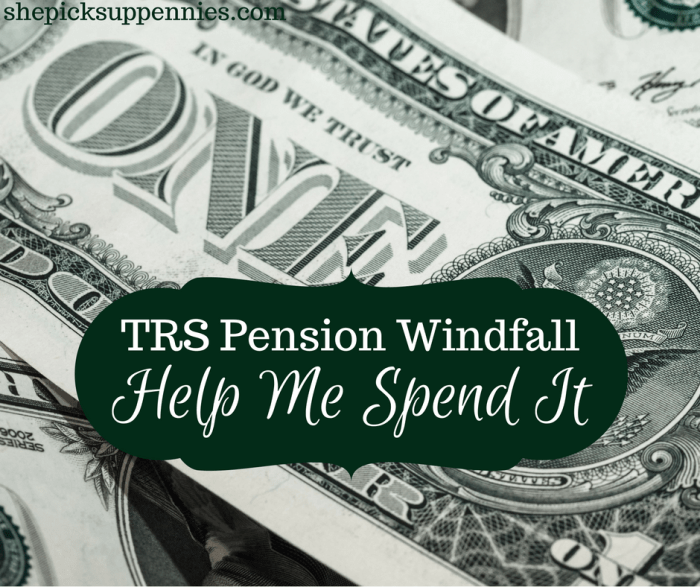 TRS Pension Windfall