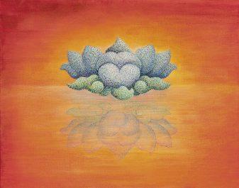 Blue Lotus Flower Enlightened Mind Fine Art Print Sherab Shey