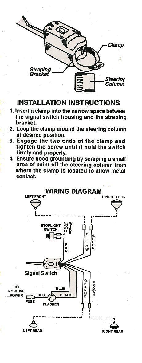 motorcycle turn signal switch wiring diagram  mazda b2200