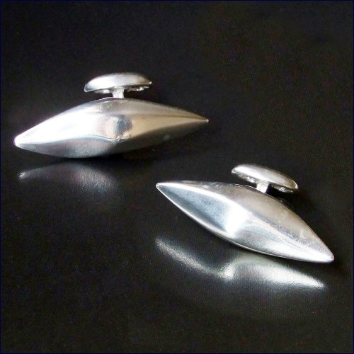 Solid silver Drifting Cloud cufflinks