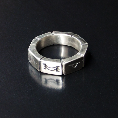 Sterling silver Octagon ring