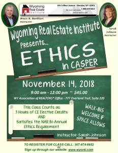 Ethics Class @ Casper  | Casper | Wyoming | United States