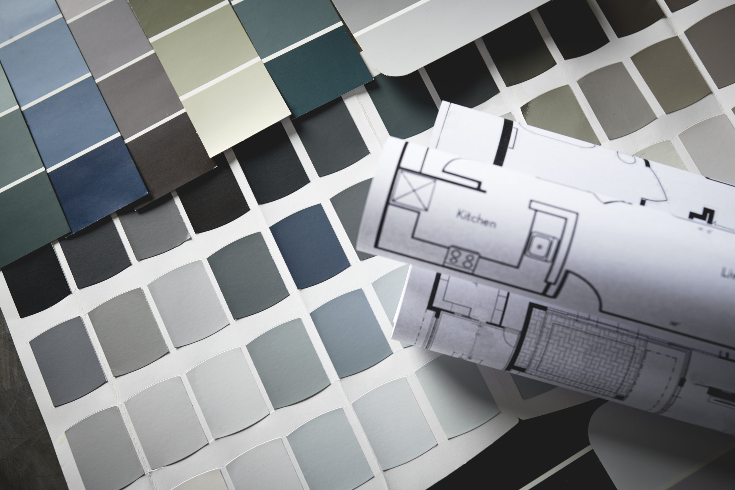 Paint Swatches and house plans