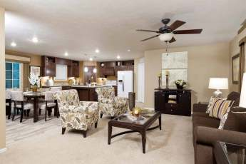 Heritage Living Room, Dining Room and Kitchen