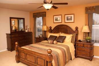 Heritage Malibu Master Bedroom with optional Ceiling Fan