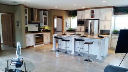 New Moon Kitchen with white ash cabinets