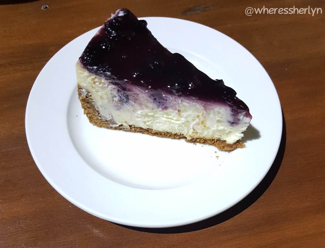 Diligence Cafe BLueberry Cheesecake