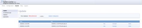 sccm linux av update