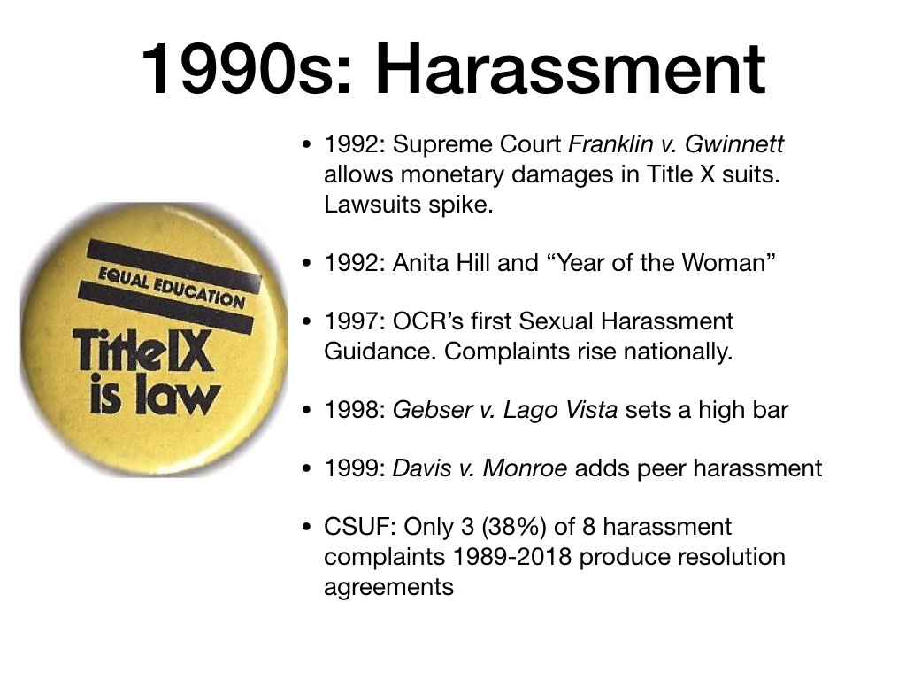 Bush title ix sexual harassment