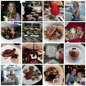 Beaches food collage