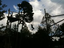On a Zip Line and a Prayer