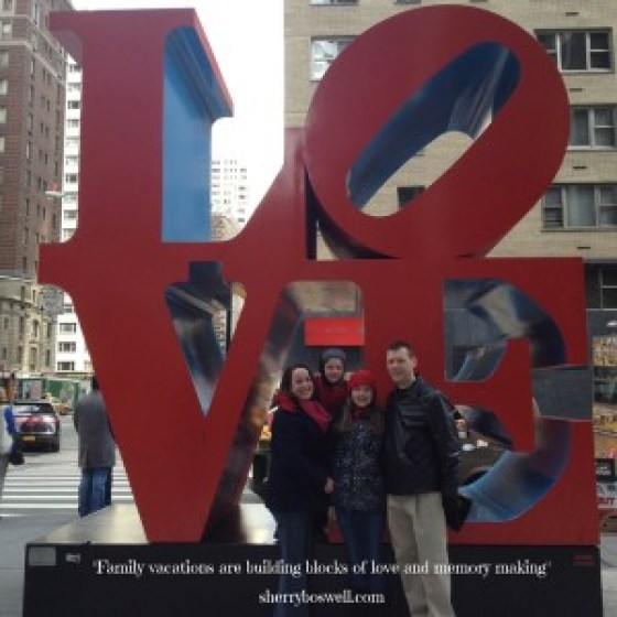 Love NYC photo with quote