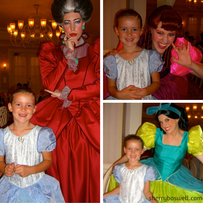 """Stepmother, Drizella and Anastasia at 1900 Park Fare add """"character: to the Grand Floridian Resort dining."""