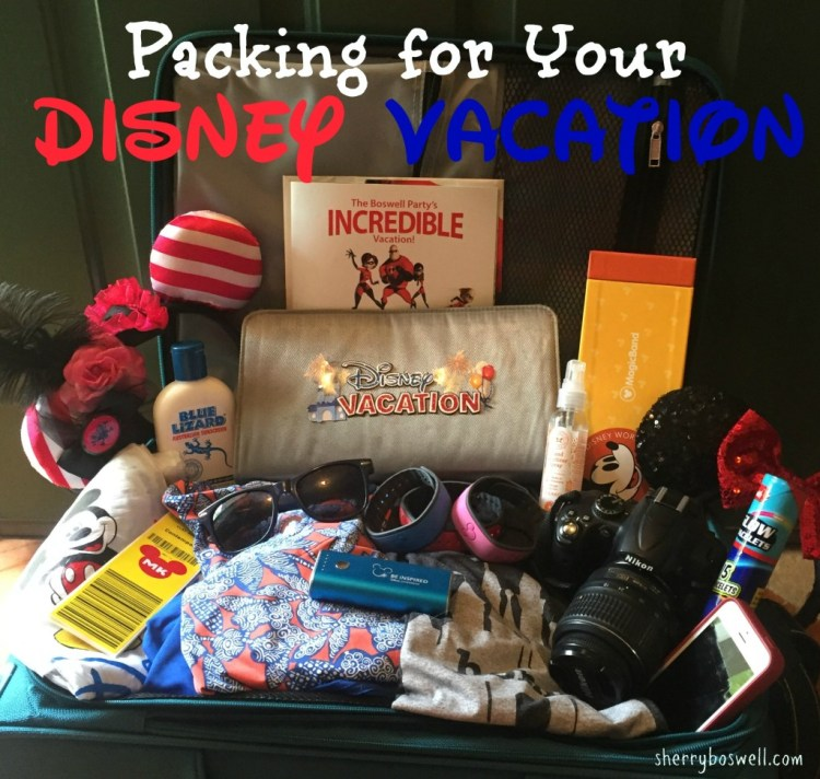 Disney vacation packing