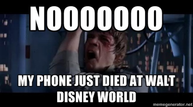 luke meme phone died at disney