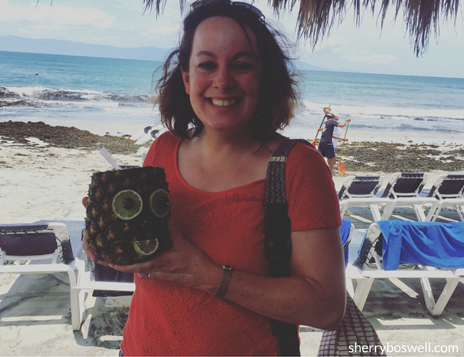 Puerto Vallarta Resort | Named my Grand Palladium Vallarta pineapple drink Wilson after the movie Castaway.
