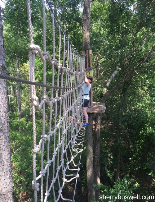 Myrtle Beach Family Fun | Fun in and out of the waves included a practice area at Go Ape zipline before taking on the courses.