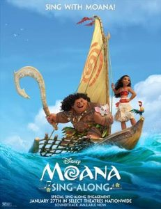 New Moana Singalong Debuts in Theaters