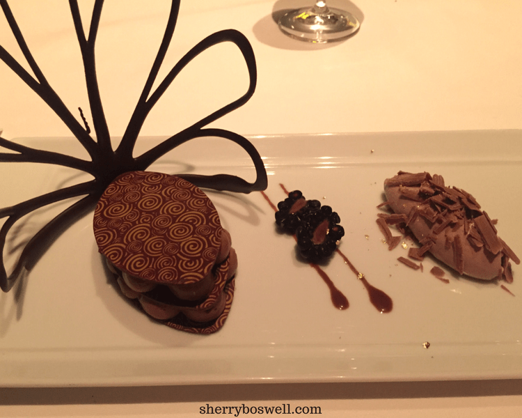 dine at Remy on your Disney cruise Chocolate dessert 2 at Remy