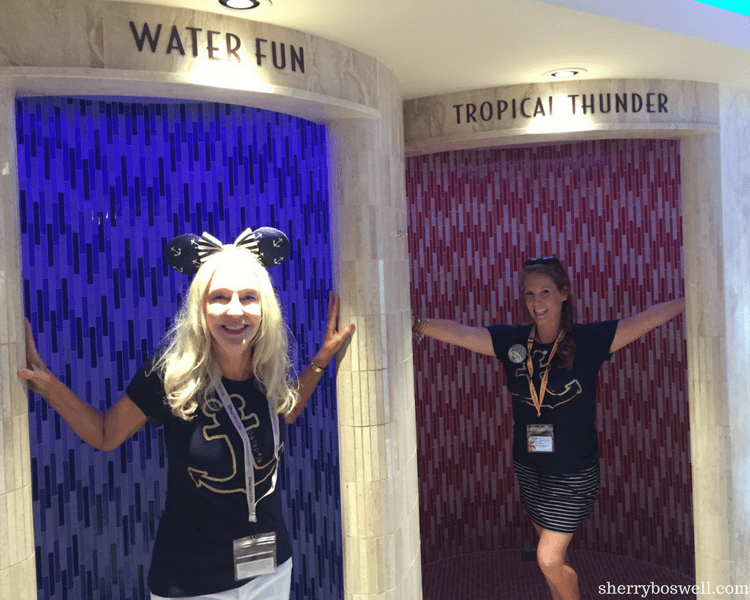 Disney Cruise Spa | Part of the Senses Spa, the Rain Forest is a must do on Disney Cruise Line. Check out these jetted showers!