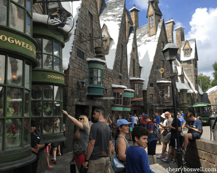 Universal Orlando Wizarding World of Harry Potter tips include all the shops and interactive spell areas at Hogsmeade