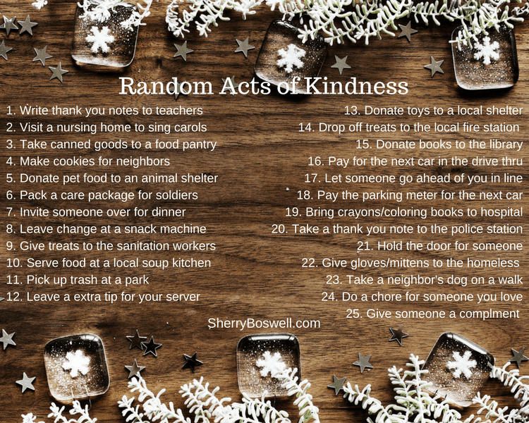 Random Acts of Kindness list (1)