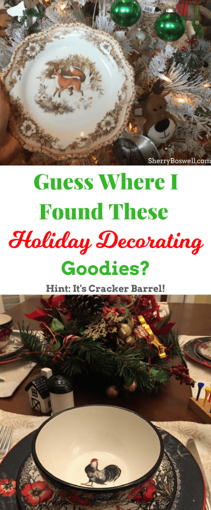 holiday decorating can be as easy as walking into the cracker barrel and seeing all the