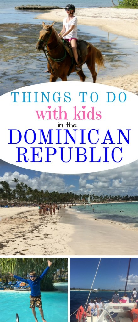 Fun in the sun with kids in the Dominican Republic is guaranteed. Try catamaran sailing, snorkeling, island hopping, horseback riding,  pool hopping and coconut sipping with our best suggestions on things to do with kids in the Dominican Republic. #dominicanrepublic #puntacana #caribbean