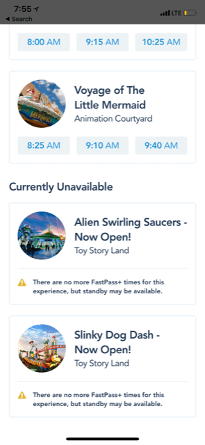 Toy Story Land tips like how to go about FastPasses on the My Disney Experience app.