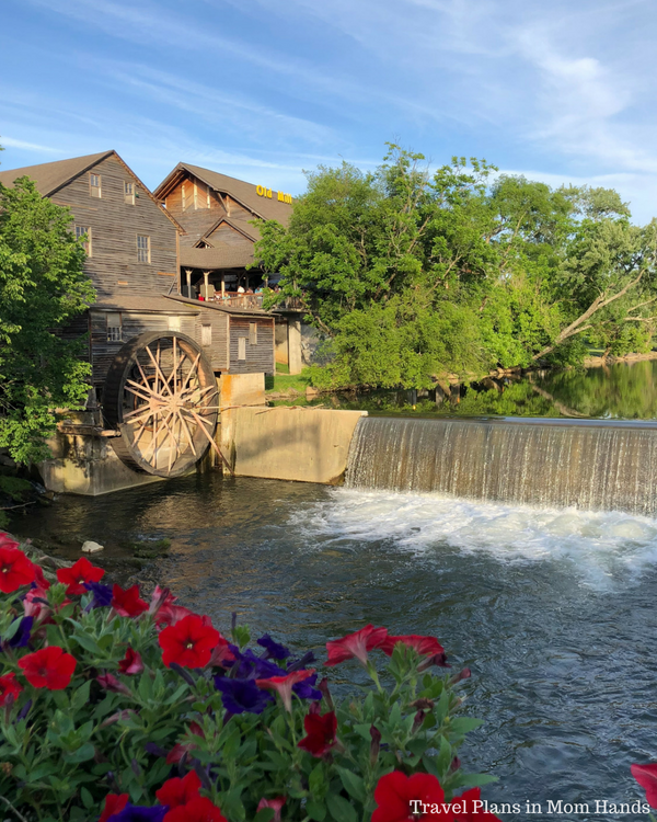 Where to Stay, Eat, and Play in Pigeon Forge, TN includes the Old Mill, an old grist mill dating back to 1830