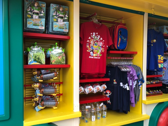 Some cool one of a kind merchandise can be found at Toy Story Land.
