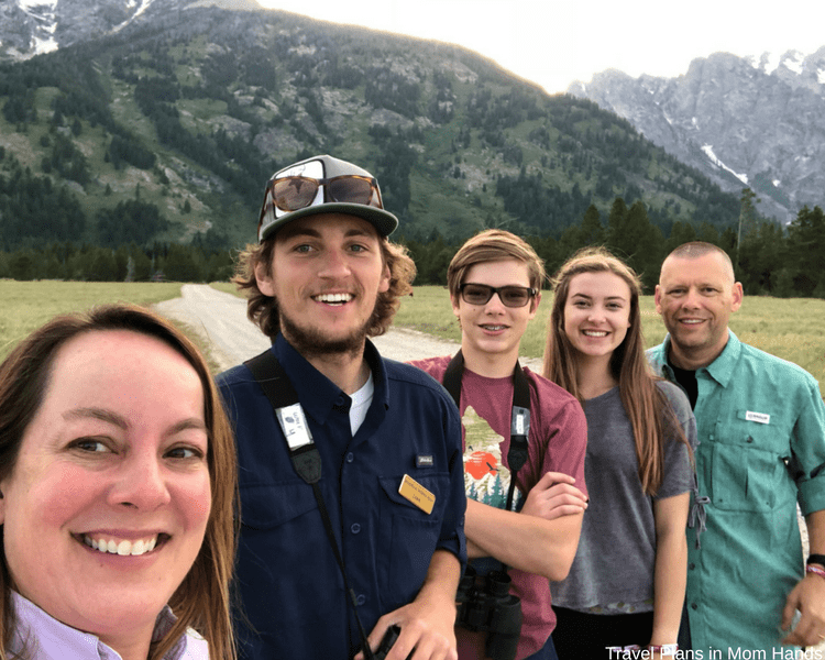 Our family with our fabulous guide Luke during our BrushBuck wildlife tour in the Grand Teton National Park in Jackson Hole, Wyoming.