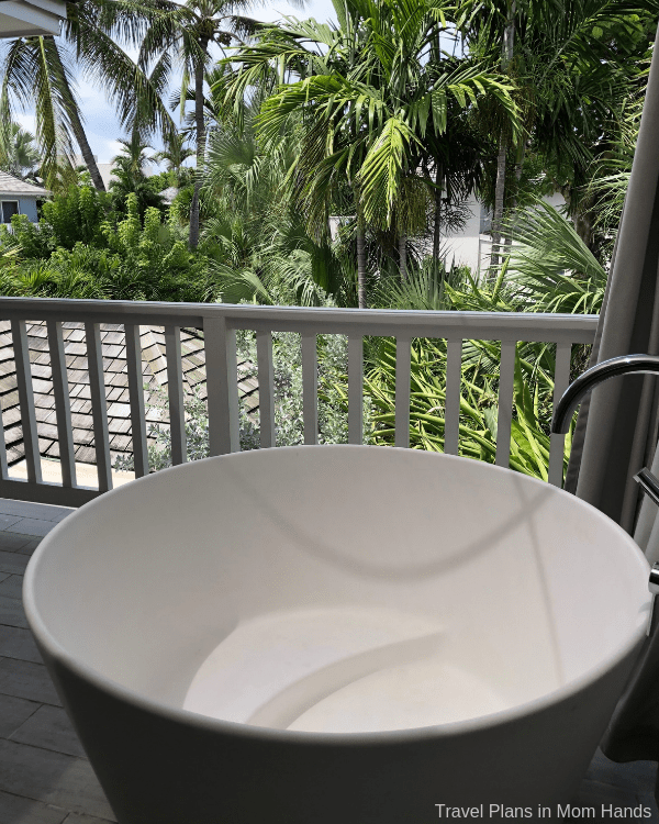 Balcony tranquility soaking tubs at one of the Sandals Royal Bahamian suites. Suite life, indeed!