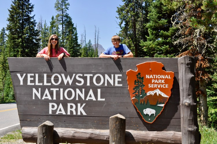 Mark your trip to Yellowstone with a photo at one of the entrance signs; one of many ways to document your Yellowstone vacation.