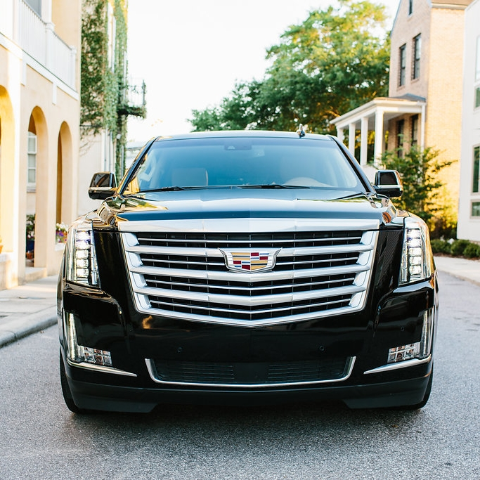 Let Lowcountry Valet and Shuttle Co. do the driving for you in Charleston SC like in this Cadillac Escalade.