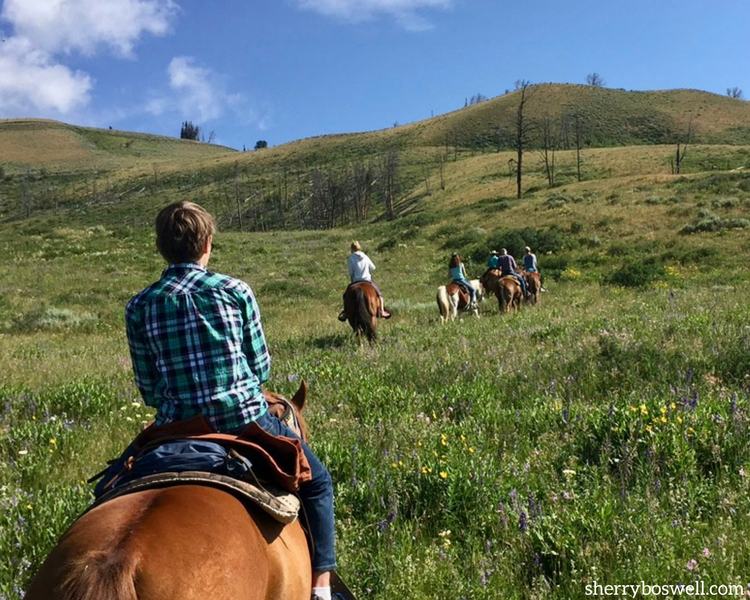 Trail rides are never the same, which make it one reason why glamping makes the best family vacation.