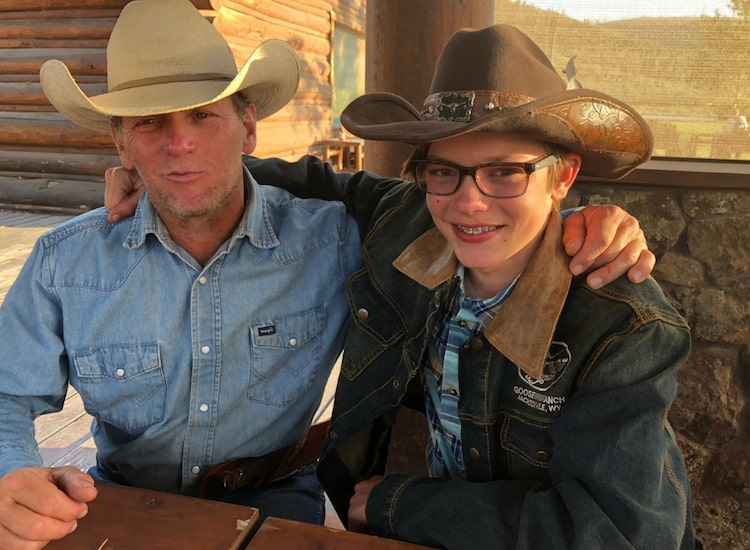 Why glamping makes a great family vacation: the people. My son bonded with our wrangler Wayne.